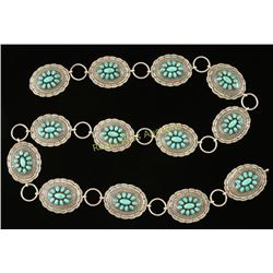 Sterling & Turquoise Concho Belt
