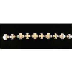 Sterling Silver Cross Design Concho Belt