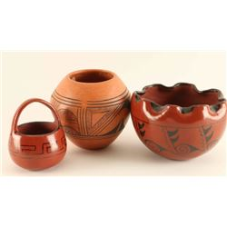 Vintage Hopi Pottery Set of 3