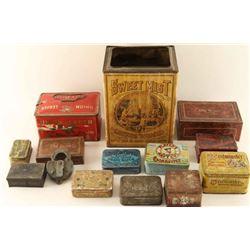 Lot of Vintage Tobacco Tins