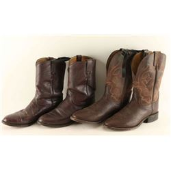 Lot of 2 Pairs Cowboy Boots