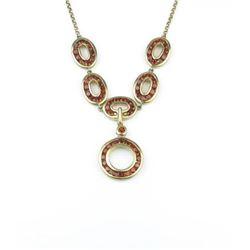 Stylish Red Garnet Fashion Necklace