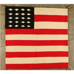 Woven American Flag Rug