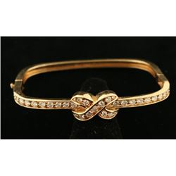 Graceful Gold & Diamond Bangle