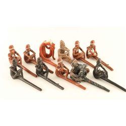 Lot of Mayan Repro Clay Pipes