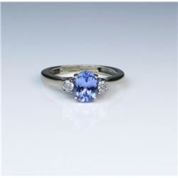Classic Tanzanite & Diamond Ring
