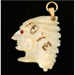 T.O.T.E Mother of pearl pendant