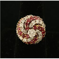 Timeless Ladies Diamond & Ruby Ring Set