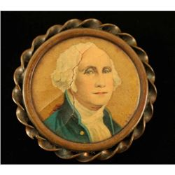 Early Antique George Washington Pin Back