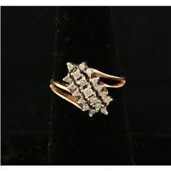 Ladies Moissanite Cluster Ring