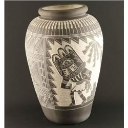 Acoma Incised Carved Vase