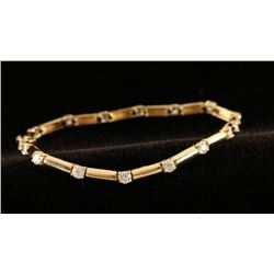 Striking Gold & CZ Link Bracelet