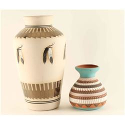 Two Navajo Type Pots