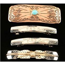 Lot of 4 Navajo Made Barrettes