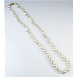 Lovely Strand of Ivory Cultured Pearls