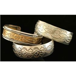 Lot of 3 Sterling Silver Cuffs