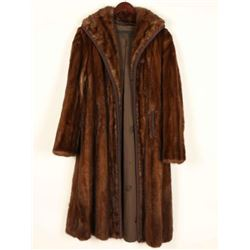 Ladies Fur Trench coat
