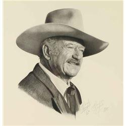 Print of John Wayne