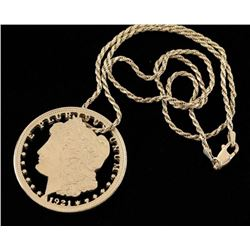 Sterling Chain with Morgan Pendant