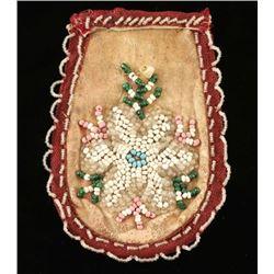 Arapaho Indian Beaded Leather Purse