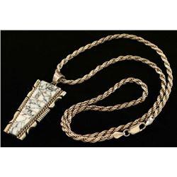 Contemporary White Buffalo Necklace