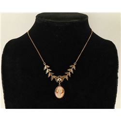 Gold Filled Necklace with Cameo