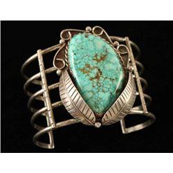Navajo Silver & Turquoise Bracelet