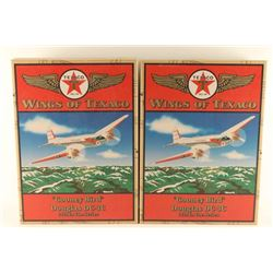 Lot of 4 Texaco Die Cast Model Airplanes