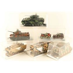 Lot of 6 Cased Military Models