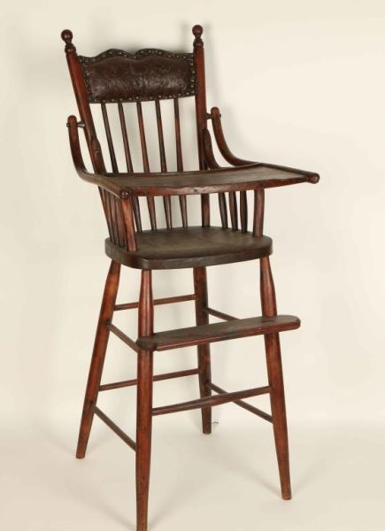 Antique Wood High Chair
