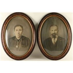 Lot of 2 Victorian Portraits