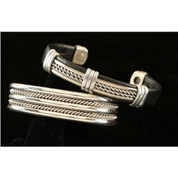 Lot of 2 Silver Bracelets