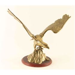 Majestic Brass Eagle Sculpture
