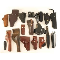Boxed Lot of Holsters & Ammo Pouches