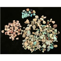 Lot of Turquoise and Rough Opal Nuggets