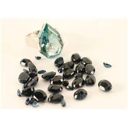 Tourmaline Ring & Loose Sapphires