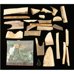 Lot of Bone and Nevada Blue Turquoise