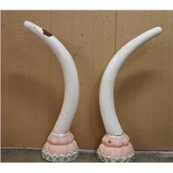 Faux Elephant Tusks