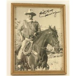 Autographed Photo of John Wayne
