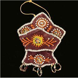 Arapaho Indian Velvet Beaded Whimsy