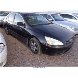 2005 - HONDA ACCORD // SALVAGE TITLE