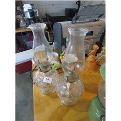 set of 2 Oil Lamps