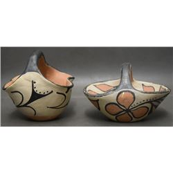 TWO SANTO DOMINGO POTTERY BASKETS