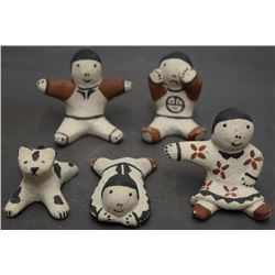 FIVE COCHITI FIGURES (CORDERO)