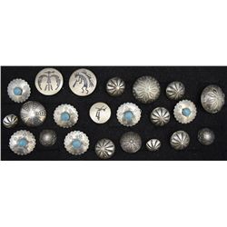 COLLECTION OF NAVAJO BUTTONS AND BUTTON COVERS