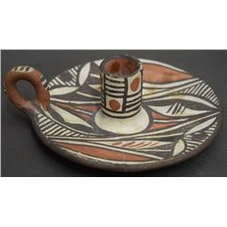 ISLETA POTTERY CANDLE STICK HOLDER