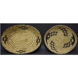 TWO PAPAGO BASKETRY BOWLS