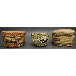 THREE NOOTKA MAKAH BASKET