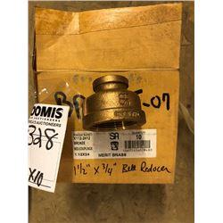 "NEW 1 1/2"" X 3/4"" Brass Bell Reducer"