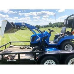 NEW HOLLAND TZ25DA Diesel Tractor w Attachments $26,000  Approx New